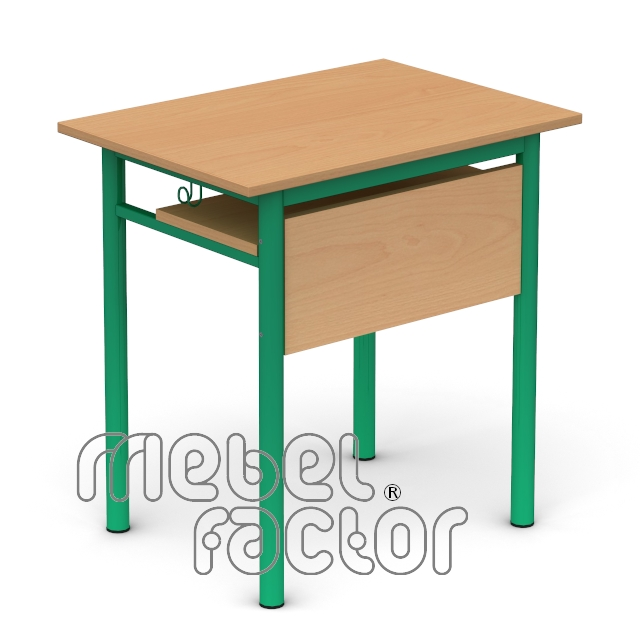 Single table RONDO H71cm with front and shelf