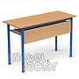 Double table RONDO H76cm with front and shelf