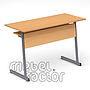 Double table TINA H76cm with front and shelf
